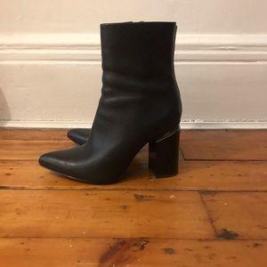 Alexander Wang black Kirby boots 38.5